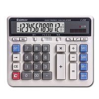 C 2135 Large Computer Keys Calculator 12 Figure Dual Power Financial Desktop Calculator