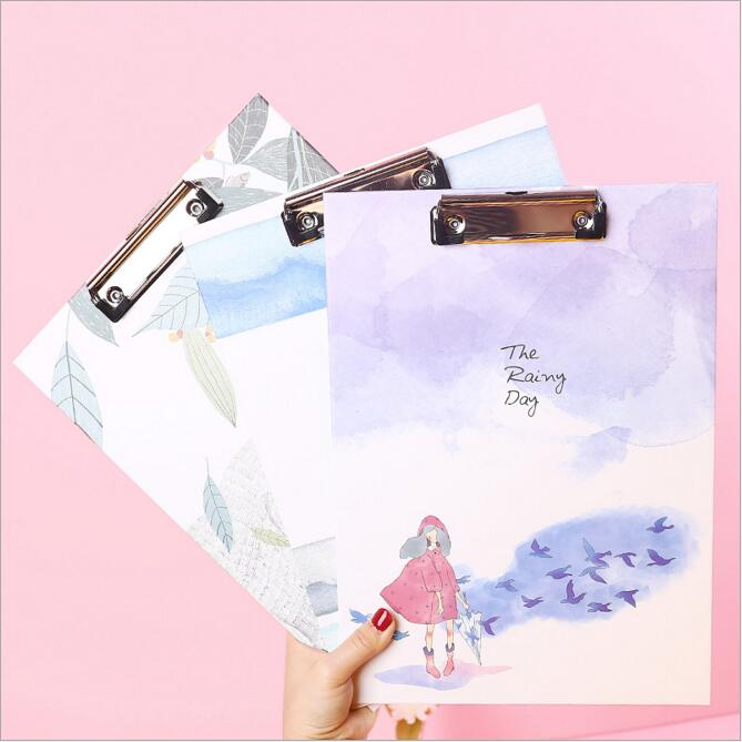 A4 Folder Writing Examination Paper Splint Plate Clip Data Book Student's Office Writing Pad Backing Board Office Stationery