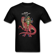 Dragon T Shirt Game Of Thrones Men T-Shirts Leprechaun On A Velociraptor Mother Of Dragon Tshirt Personalized Fashion Cool Tee