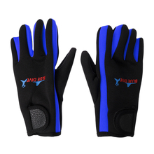 1 Pair 1.5mm Neoprene Elastic Comfortable Keep Warm Anti-slip Gloves for Men Women Scuba Diving Surfing Swimming Yellow/Blue цена