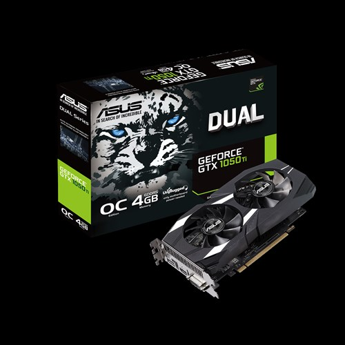 ASUS DUAL-GTX1050ti-O4G-V2 DUAL-GTX1050TI-3O4G-V2 Snow Leopard Computer Graphics Card