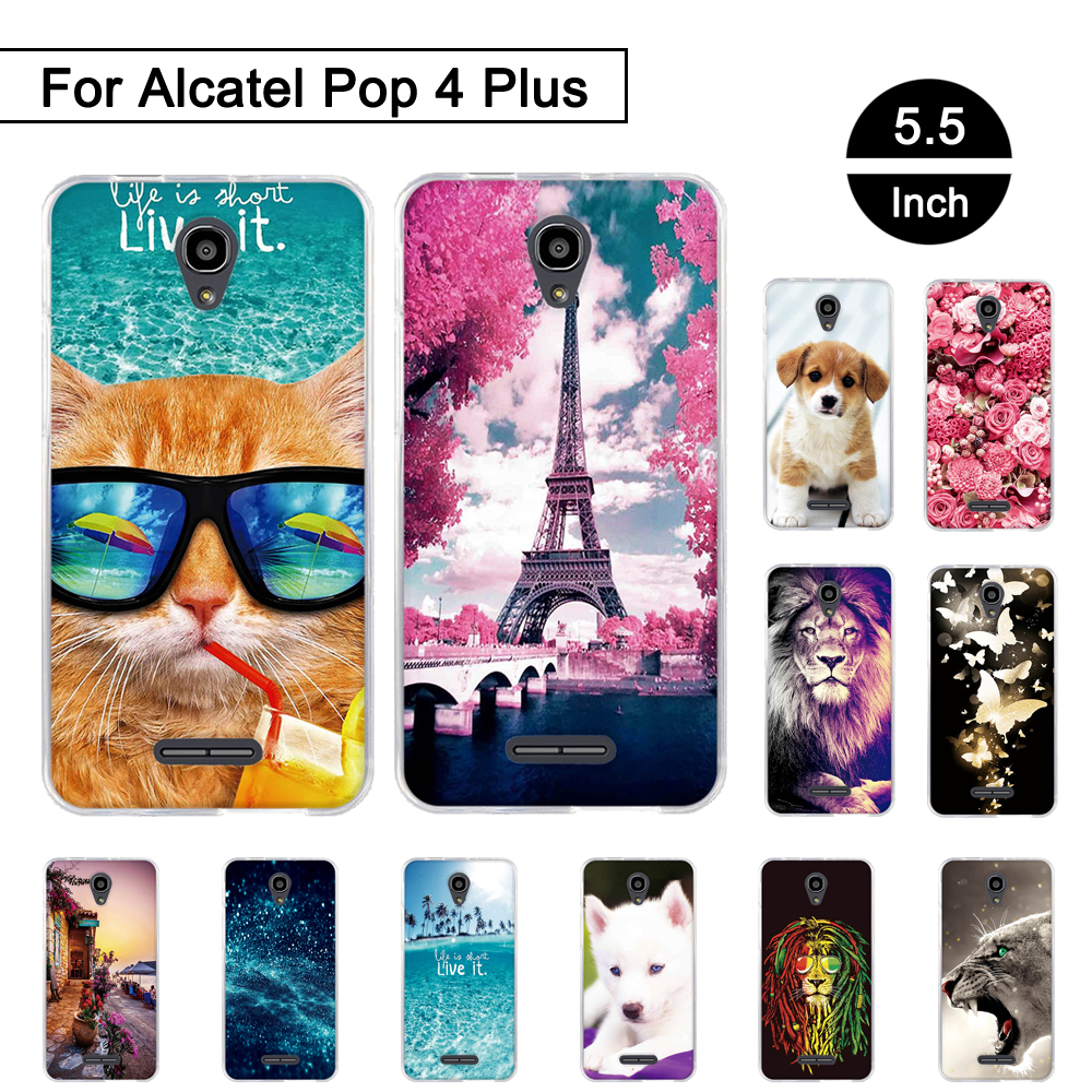 3d Relief Tpu Case For Alcatel Pop 4 Plus 5056d Back Phone Original Superhero Soft Meizu M3s 5 Inch Painted Pattern Ot5056 55 Silicon Cover