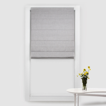 SCHRLING New Roman Shade Cotton Linen Roman Blinds On Windows For bedroom For living room Curtains Customized Size 80% Shade