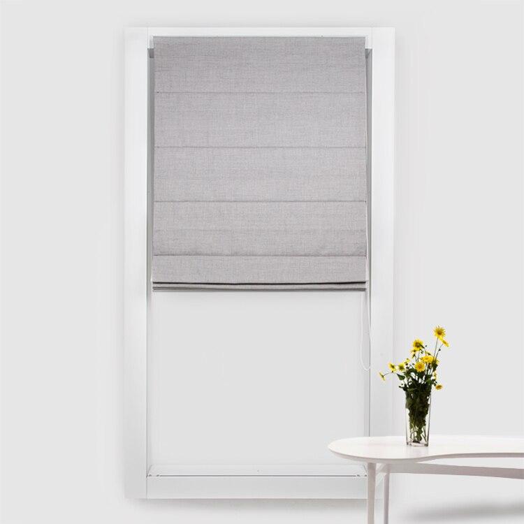 Schrling新しいローマンシェードコットンリネンローマンブラインド上のwindows用寝室用リビングルームのカーテンカスタマイズされたサイズ80%シェード  グループ上の ホーム&ガーデン からの ブラインド、シェード & シャッター の中 1
