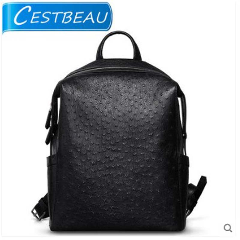 Cestbeau2019 new ostrich leather backpack with large leather capacity  Travel bag  casual for men and womenCestbeau2019 new ostrich leather backpack with large leather capacity  Travel bag  casual for men and women
