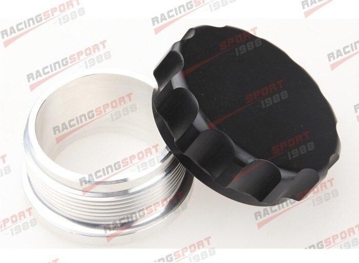 2.5 63.5mm Aluminium Alloy Weld On Filler Neck And Cap Oil, Fuel, Water Tank Black