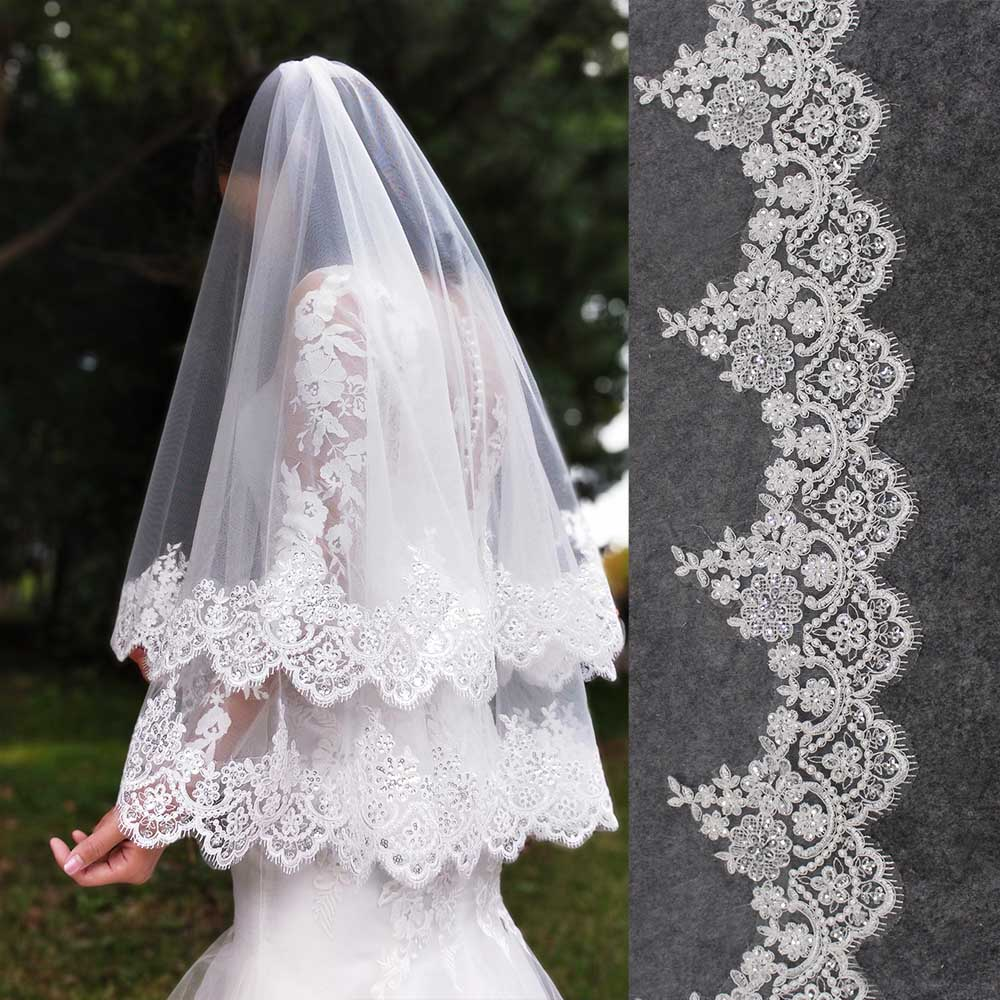 High Quality Cover Face Soft Tulle Short Wedding Veil 2 T White Ivory Custom Made Veil For Bride Accessories Bridal