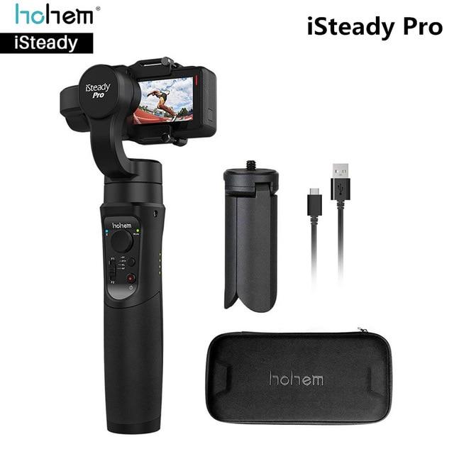 Aller pro Cardan Hohem iSteady Pro 3-Axe De Poche Steadycam Stabilisateur pour Go pro GoPro Hero 7 6 5 4 Yi 4 K SJCAM accessoires gopro