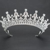Real Austrian Crystals Rhinestone Wedding Bridal 2/3 Round Tiara Crown Hair Accessories Jewelry 05365L