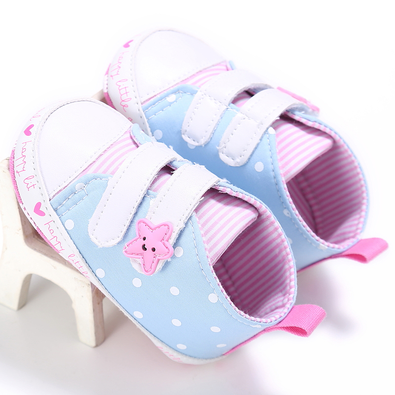 Newborn Baby Boy Girl Canvas Shoes Soft Soled Non-slip Footwear Crib First Walkers Shoes