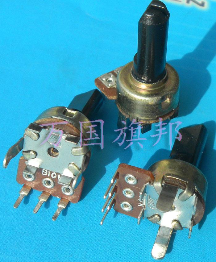 Free Delivery. 121 Single Union Vertical B103 Potentiometer Half Shaft Handle B10K 15 Mm Long