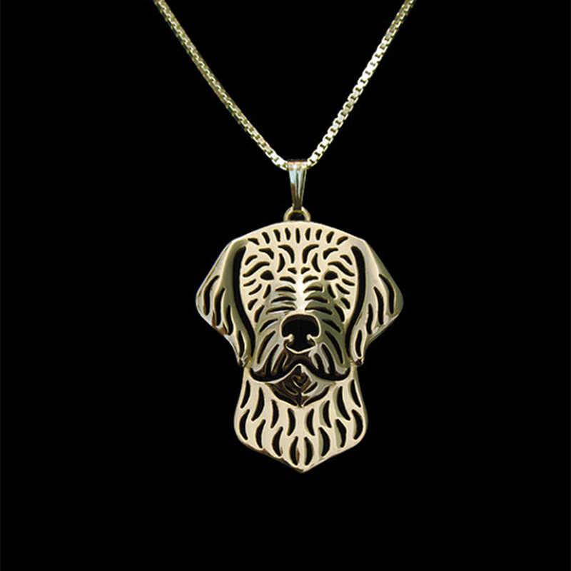 الذهب والفضة اللون wirehaired vizsla قلادة الجوع ألعاب قلادة للنساء أفضل صديق قلادة 10 قطعة/الوحدة
