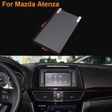 Car Styling 7 Inch GPS Navigation Screen Steel Protective Film For Mazda Atenza Control of LCD Screen Car Sticker