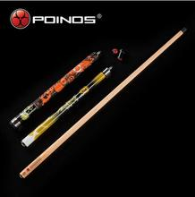 POINOS ZU Break Cue Punch Jump Cues with Pool Case Set Yellow Red Blue Two Colors  Black Eight Billiard Kit China