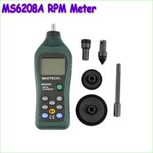 1 шт. Профессиональный MS6208A Связаться Цифровой Тахометр RPM Метр Скорость Вращения 50-19999 ОБ./МИН.