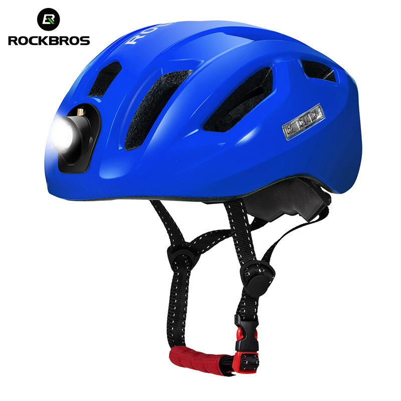ROCKBROS Bicycle Road Bike Light Helmet 2018 Removable Security Light Riding Camping Equipment Integrally-molded Helmet basecamp integrally molded helmet bike bicycle helmet outdoor sport riding bike head protector cycling helmet riding accessories