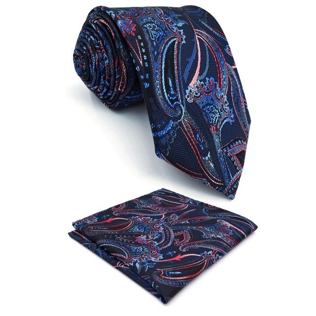 e25db661e392 C8 Multicolor Abstract Paisley Silk Mens Necktie Set Fashion Novelty  Jacquard Woven Ties for male Hanky