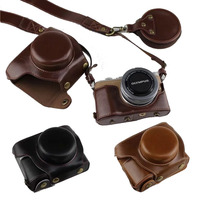 New Luxury PU Leather Camera Case For Olympus EPL9 E PL9 Digital Camera Bag Cover With Battery Opening