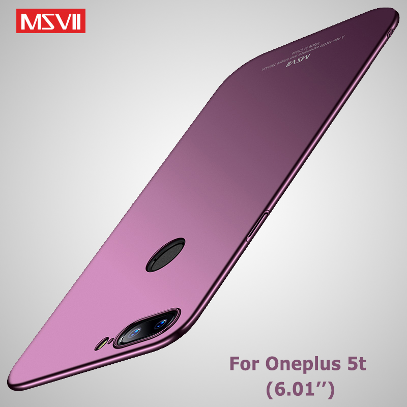 Oneplus 5T Case Cover Msvii Slim Frosted Coque For One Plus 5 T Case OnePlus 5 T Hard PC Back Cover For OnePlus5T OnePlus5 Cases