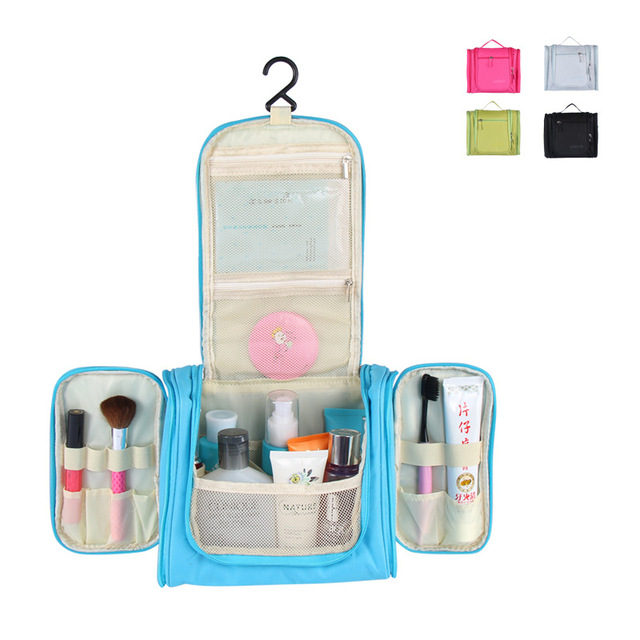 Haochu Uni Travel Storage Bag Bathroom Hanging Washing Toiletry Organizer Cosmetic Container Double Open Portable