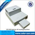 CD DVD покрытие машина настольная UV coater CD Глянцевая масляная машина для покрытия CD диск с дешевой ценой
