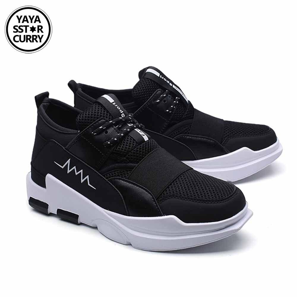 YAYA/SSTAR Карри Кроссовки сетчатый спортивный Обувь черный, белый цвет для бега Y3 Спортивная обувь для человек открытый плоский ходьбы тенденц...
