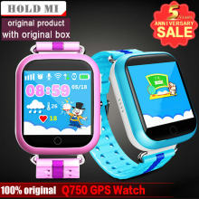 Hold Mi GPS Smart Watch Q750 Q100 Baby GPS Smart Watch With Touch Screen SOS Call Location Device Tracker for Kid Safe PK Q80(China)