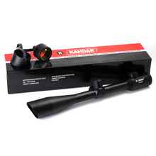 KANDAR 10X42 1 Integral Sunshade Optical Sight Red Green Illuminated P4 Reticle Hunting Riflescope Classic Hunter