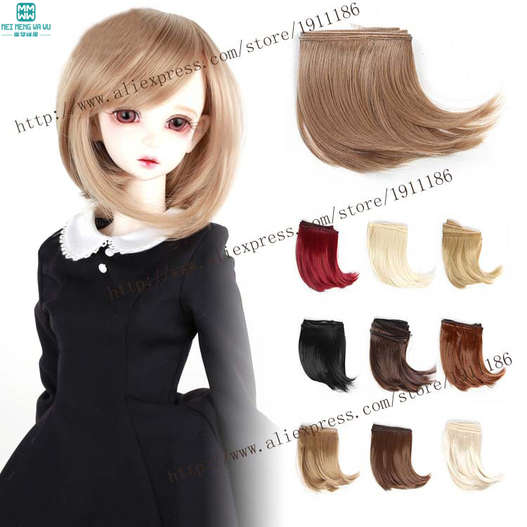1pcs 10*100CM bjg bend Wigs/Hair for dolls BJD SD DIY hairstyle High-temperature things for dolls 1pcs 25cm 100cm doll wigs hair for dolls bjd sd dolls diy white black brown light gold a variety of colors