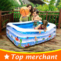 2016 Детский Бассейн Надувной Бассейн Большой Пластиковые Бассейны Площади Надувной Бассейн Дети Бассейна Ванной YP02