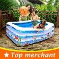 2016 Piscina Del Bebé Piscina Inflable Grande Piscinas De Plástico Cuadrada Inflable Piscina Infantil Bañera Lavabo YP02