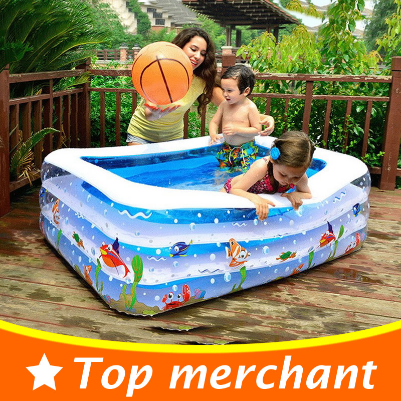 2017 Baby Swimming Pool Inflatable Pool Large Plastic Swimming Pool Square Inflatable Swimming Pool Children Basin Bathtub YP02L dual slide portable baby swimming pool pvc inflatable pool babies child eco friendly piscina transparent infant swimming pools