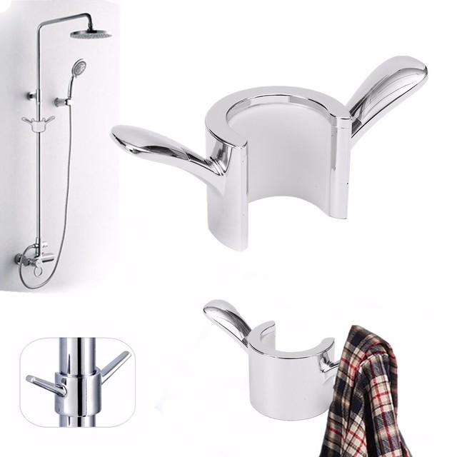 New Bathroom Shower Pipe Showers Ball Towel Hooks Bathing Handheld ...