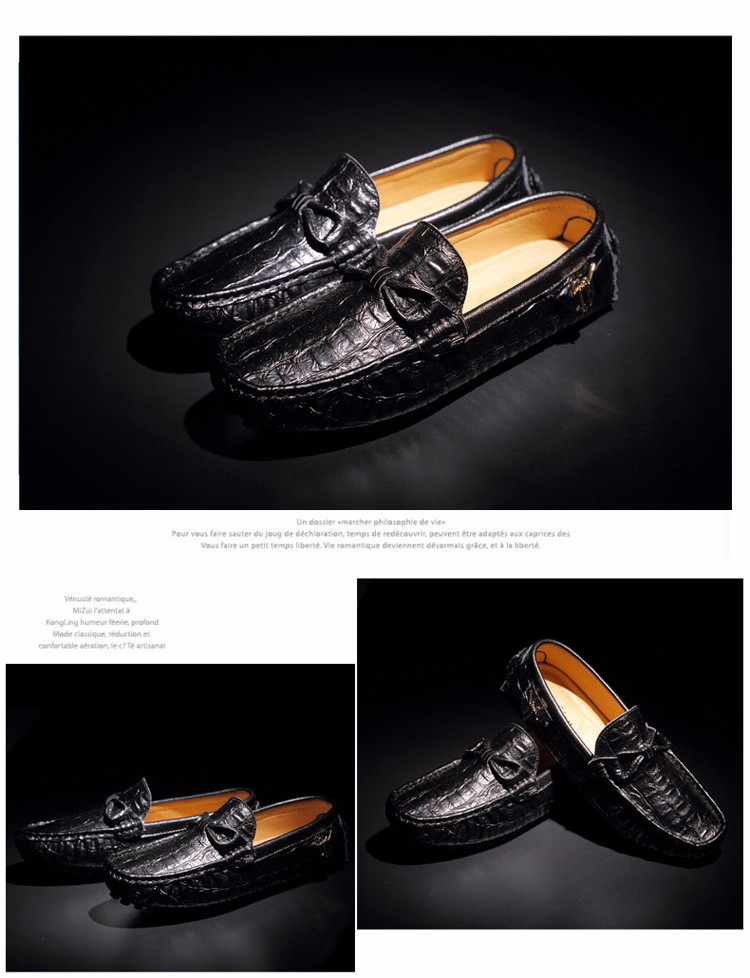 2016 KUYUPP Fashion Genuine Leather Men Loafers Casual Slip On Flats Summer Flat Heels Men Driving Shoes mocassin homme H48 (9)