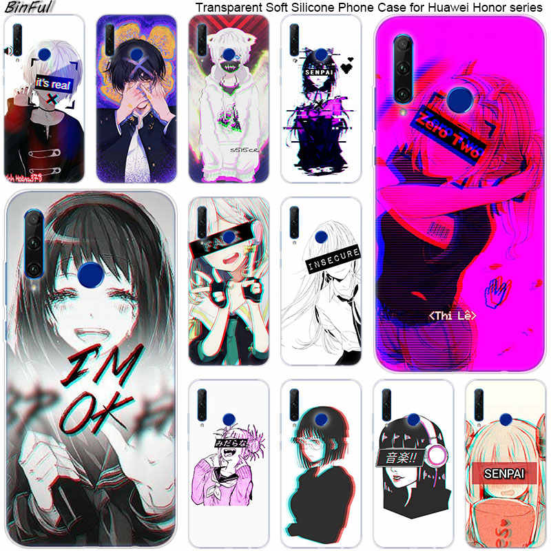 Hot LEWD Sad Anime Soft Silicone Phone Case for Huawei Honor 20 20i 10 9 8 Lite 8X 8C 8A 8S 7S 7A Pro View 20 Fashion Cover