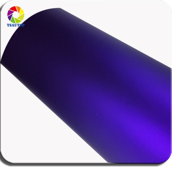 TSAUTOP 1.52m width purple matte chrome Vinyl Wrap Car Wrapping Film For Vehicle styling With Air Rlease