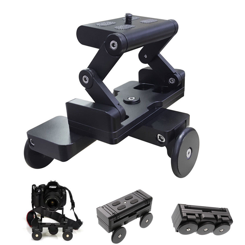 Foldable Desktop Rail Table Dolly Track Mini Video Stabilizer Rolling Slider Skater for Camera Smartphone new 4 wheels mobile rolling sliding dolly stabilizer skater slider motorized push cart tractor for gopro 5 4 3 3 2 1 camera