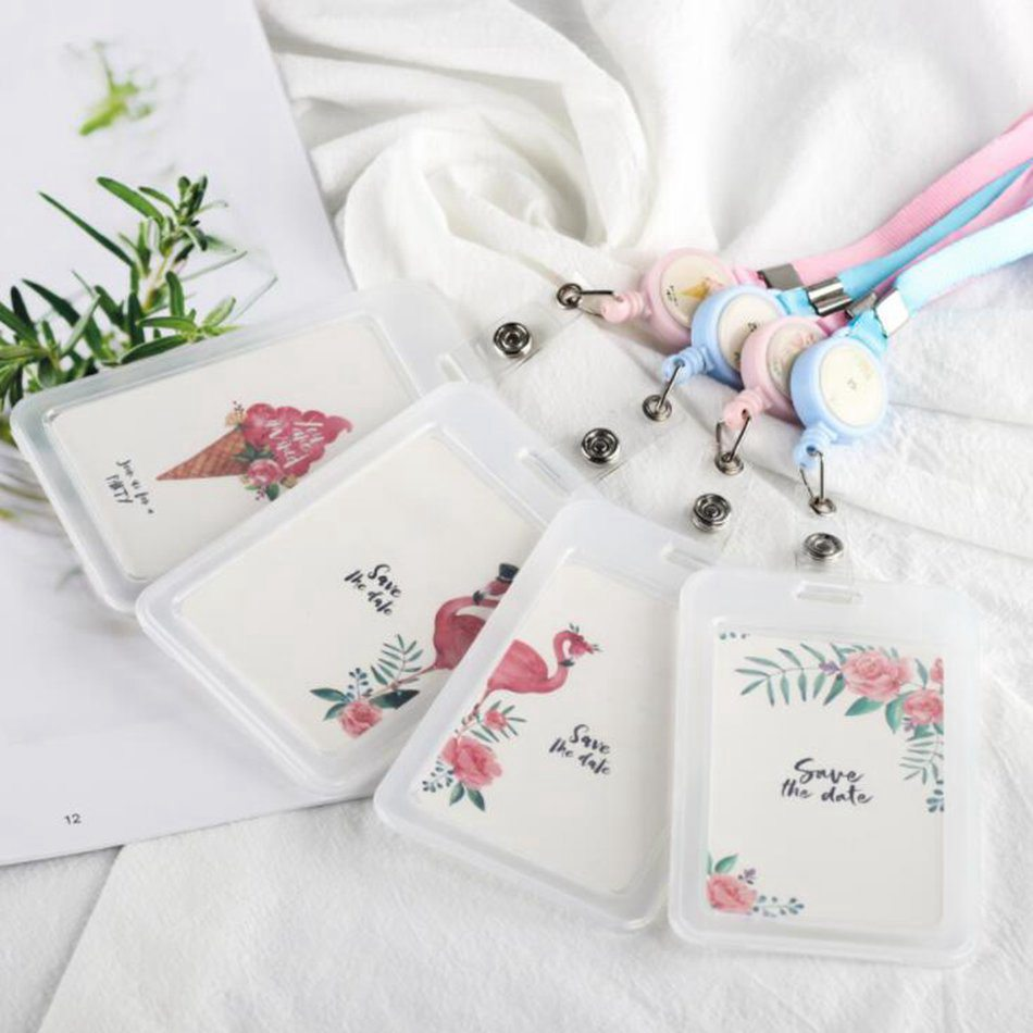 Flamingo PVC Credit Card Bag Cartoon Women Kids Cute Business Passport ID Card Holder Cover Case Card Wallet Porte Carte passport cover porte cardholder carte card case travel wallet business id bolsa new credit card holder bag pu leather carteira