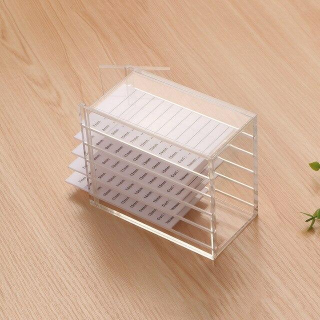 Ferramentas de extensão de cílios salvar caixa de armazenamento de extensão de cílios