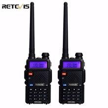 2 pcs Professionnel Talkie Walkie Paire Retevis RT-5R 5 W 128CH VOX DTMF Scan UHF VHF Double Bande Radio Portable Ham Radio Comunicador