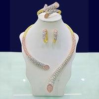 GODKI Luxury Geometry Cubic Zirconia Nigerian Jewelry sets For Women wedding Indian DUBAI Bridal Jewelry Set parure bijoux femme