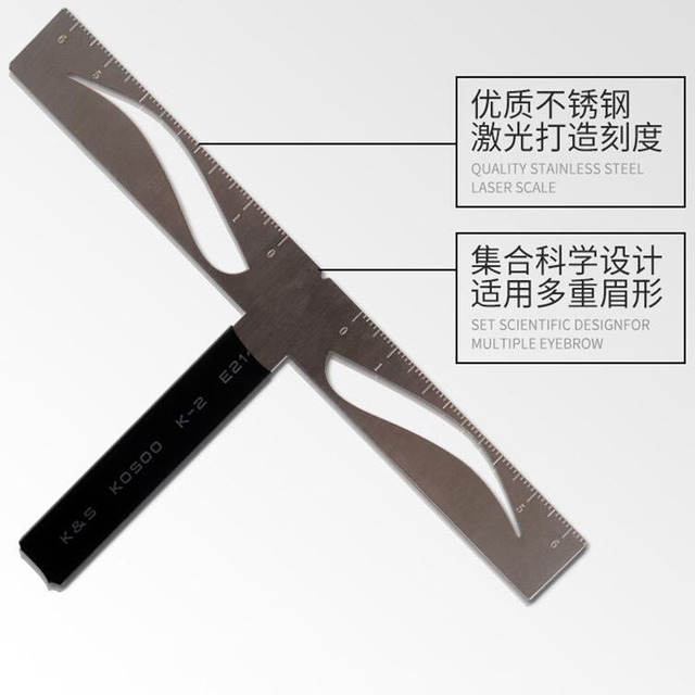 Eyebrow Shaping Ruler Tattoo Eyebrow Measurement Ruler Balance Permanent 3d Pen Kit Skin Marker Stencil for Microblading 3