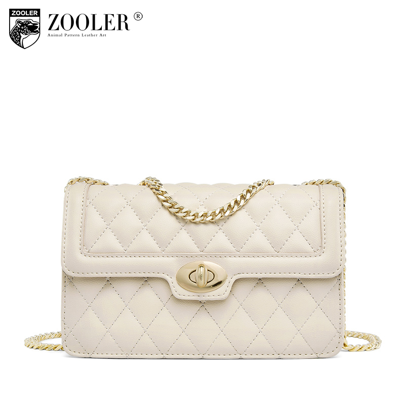 ZOOLER Genuine Leather woman bags 2018 hot classic Shoulder Bags small Messenger Bag Ladies chains bolsa feminina #E119 hot zooler woman bag genuine leather bag hot designer bags handbags women famous brands shoulder chains bolsa feminina 1686