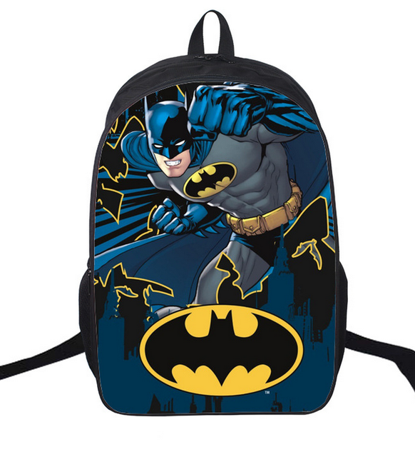 004bd4ac37 16-inch Mochila Infantil Hero Batman Backpack Children School Bags Kids 3D  Orthopedic Children Backpack