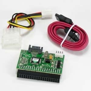 Free Shipping 2 Dual Serial-ATA SATA HDD TO 3.5 IDE Converter Adapter