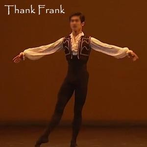 Image 1 - New Male Ballet Costume Set Including Long Sleeve Leotard And Vest Custom Made Professional Boy Men Prince Ballet Dance Costumes