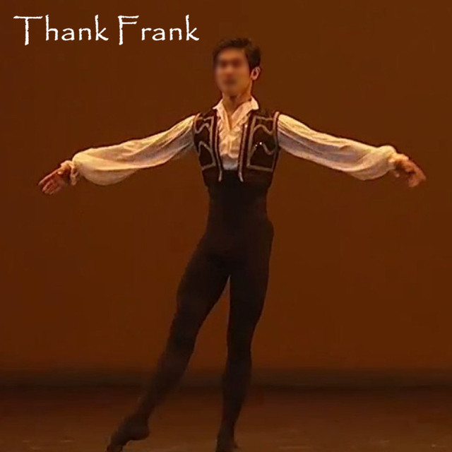 New Male Ballet Costume Set Including Long Sleeve Leotard And Vest Custom Made Professional Boy Men Prince Ballet Dance Costumes