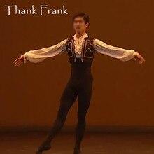 Nieuwe Mannelijke Ballet Kostuum Set Inclusief Lange Mouwen Turnpakje En Vest Custom Made Professionele Jongen Mannen Prins Ballet Dans Kostuums