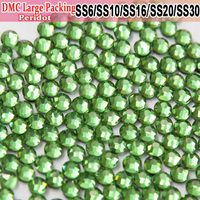 Bulk Packing Iron On Beautiful stoning design Peridot stones and crystals Transfer Designs Hotfix Rhinestones
