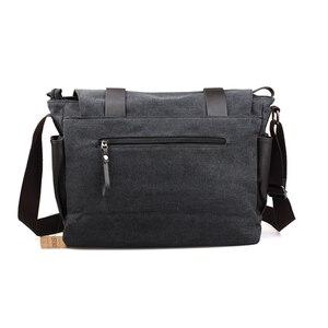 Image 3 - Bolsa transversal estilo coreano masculina, bolsa de ombro, de lona, para estudantes, faculdade, 2020